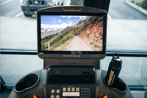 cardio equipment with video screen