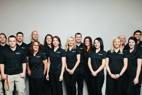 group photo of personal trainers and physical therapists from ActiveEDGE