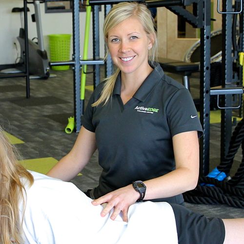 female physical therapist Kelsey Steinhorst