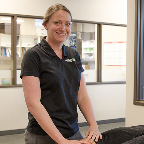 female physical therapist Lauren Koch