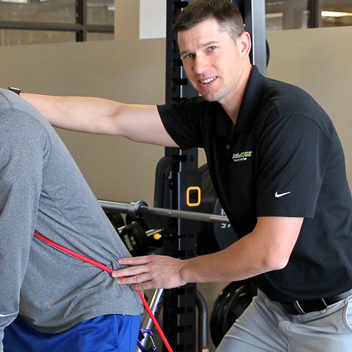 male physical therapist Micah Frey