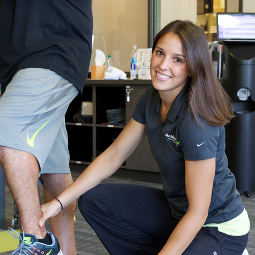 female physical therapist Rachel Wilkinson