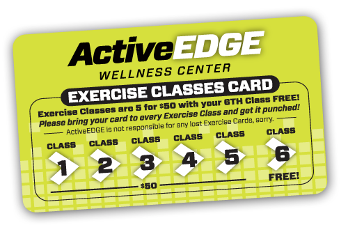 ActiveEDGE punchcard for exercise classes